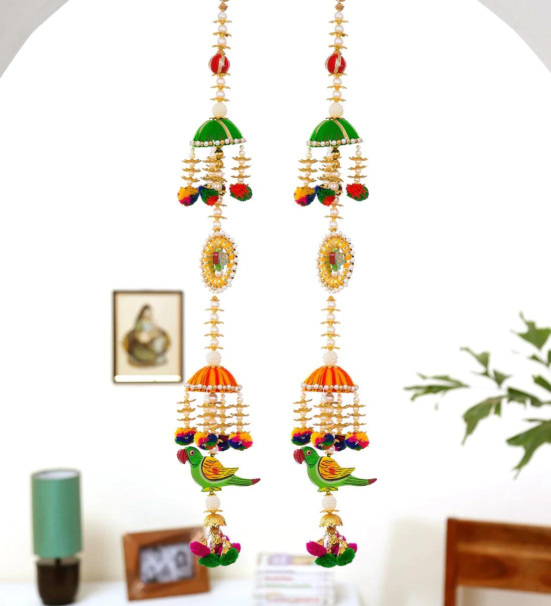 ganesh toran for home door , latest toran for main gate , designer toran for diwali , home decoration office decoration traditional bandarwal navratri , decoration for home, fancy wall hanging, toran puja pooja mandir low price