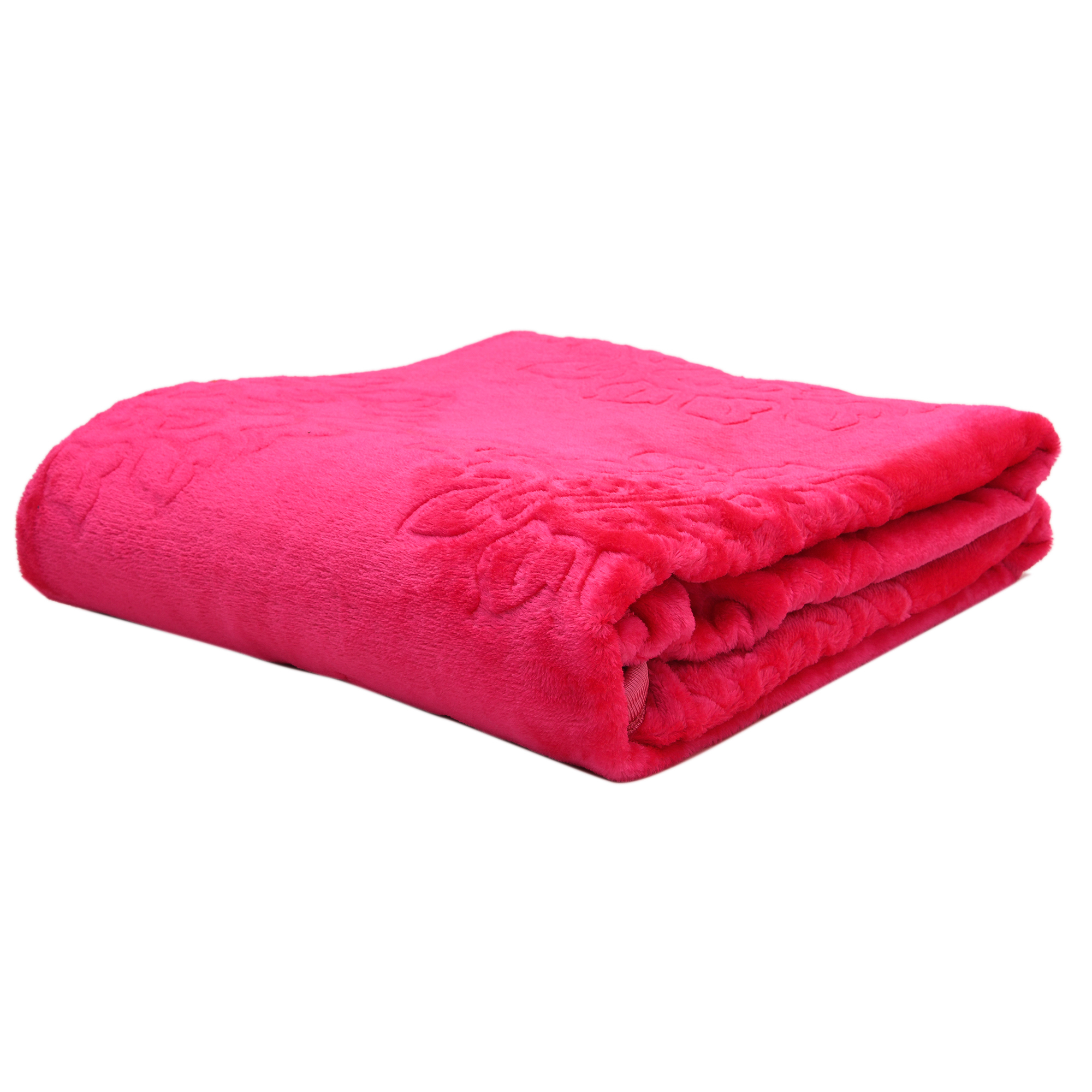 Soft Luxurious Embossed Very Warm Blankets Solid Colour Soft Ultra Floral Microfiber Double Bed Mink Winter Blanket 024