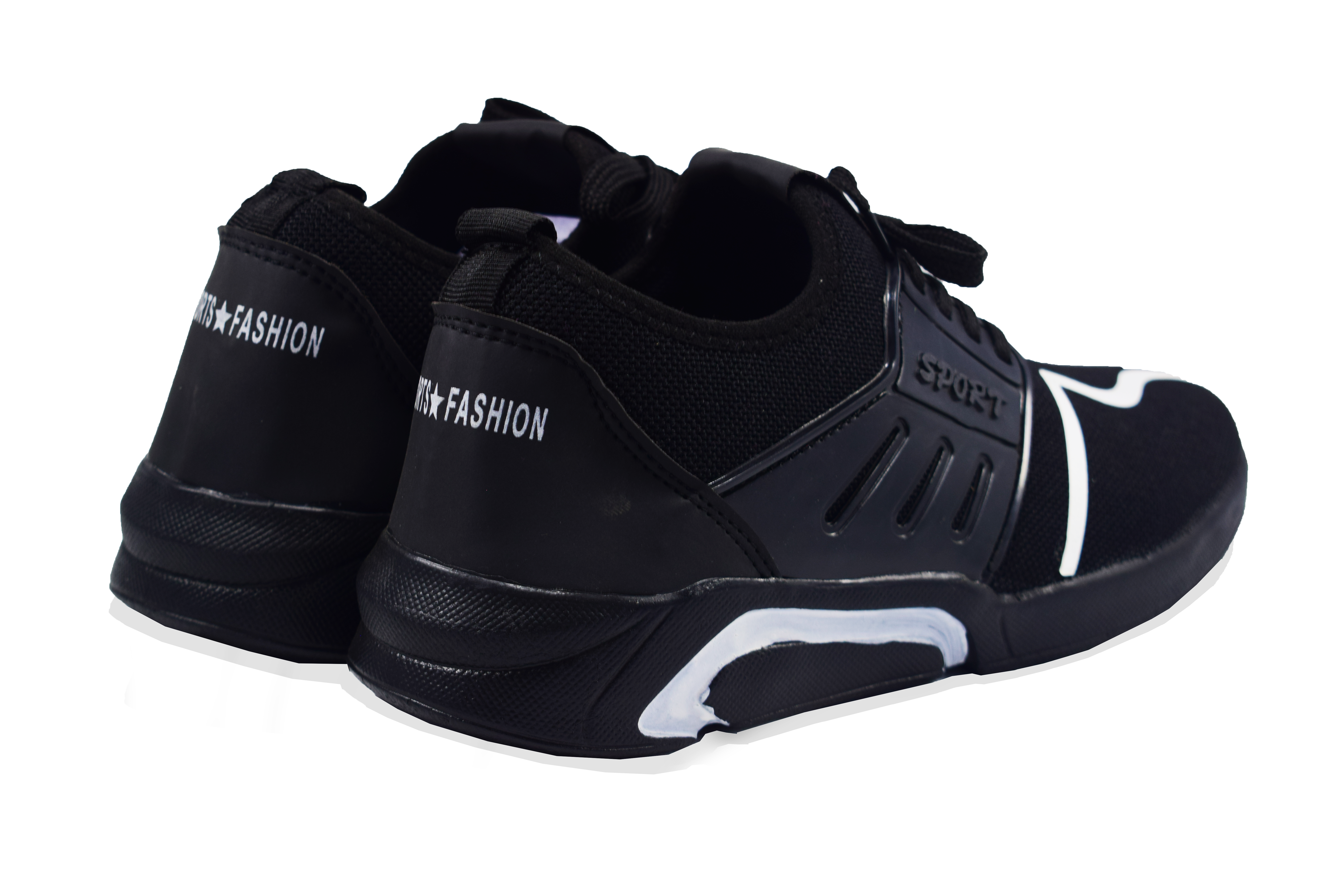 BRIFAR COMFORTABLE & TRENDY SPORTS SHOES ARE RELIABLE FOR ANY 0BFS0791-BLK (BLACK, 7-10, 4 PAIR)