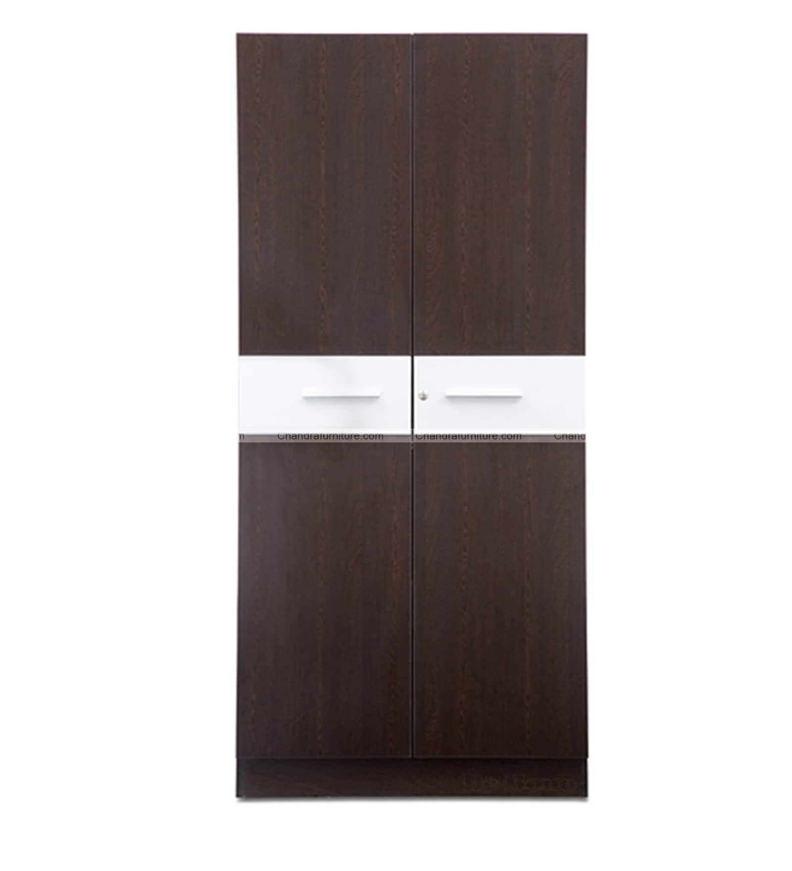Chandra Furniture Stora XL Two Door Wardrobe  Dark Colour