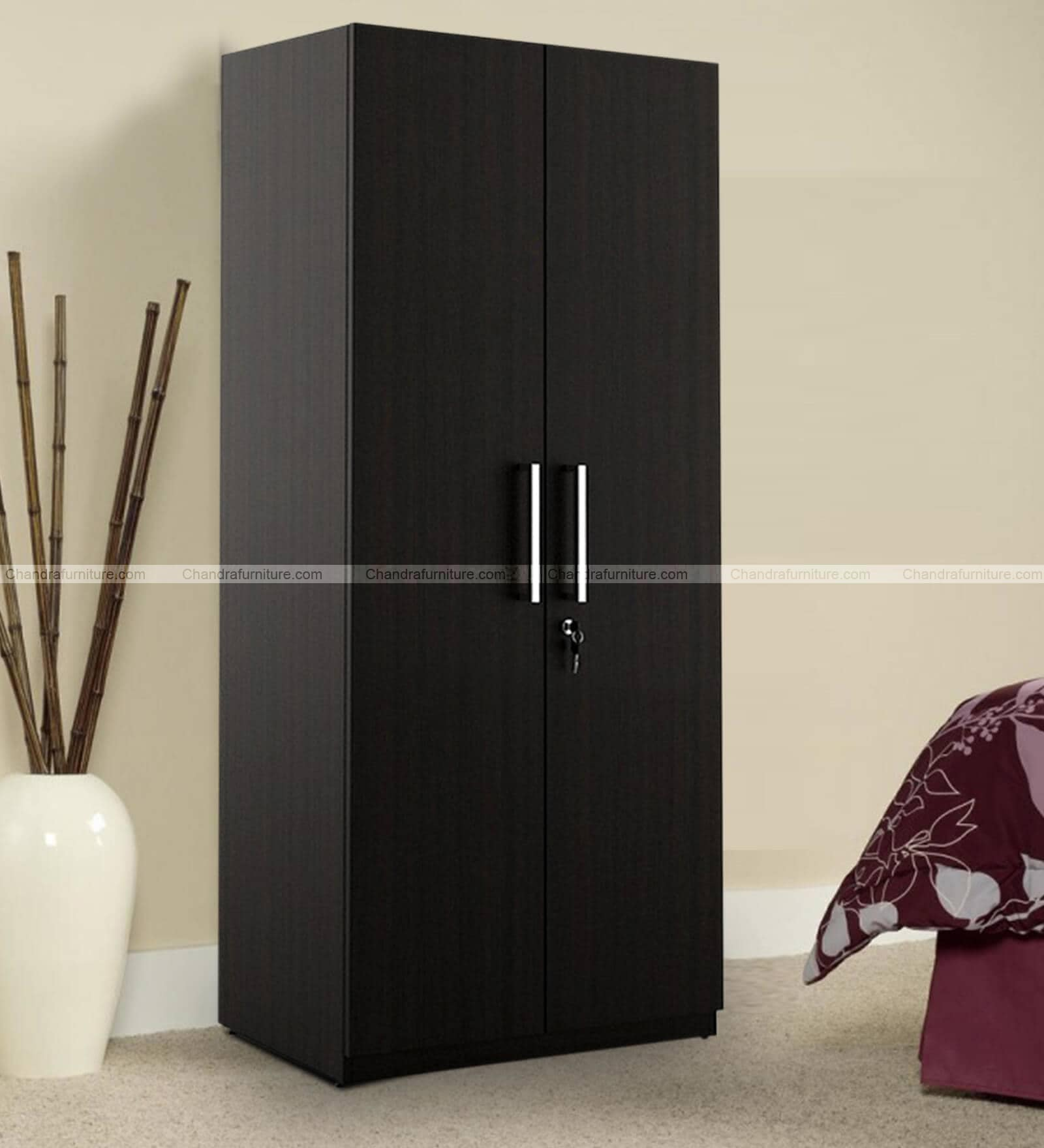Chandra Furniture Eco Two Door Wardrobe Dark Colour