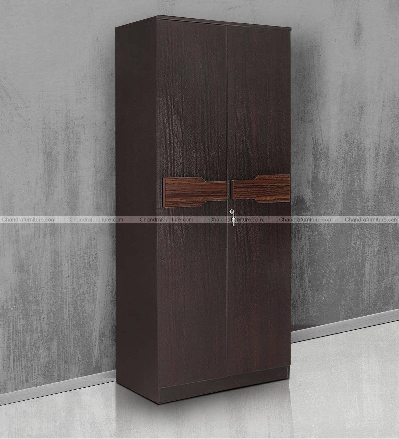 Chandra Furniture Duke  Two Door Wardrobe Dark Colour