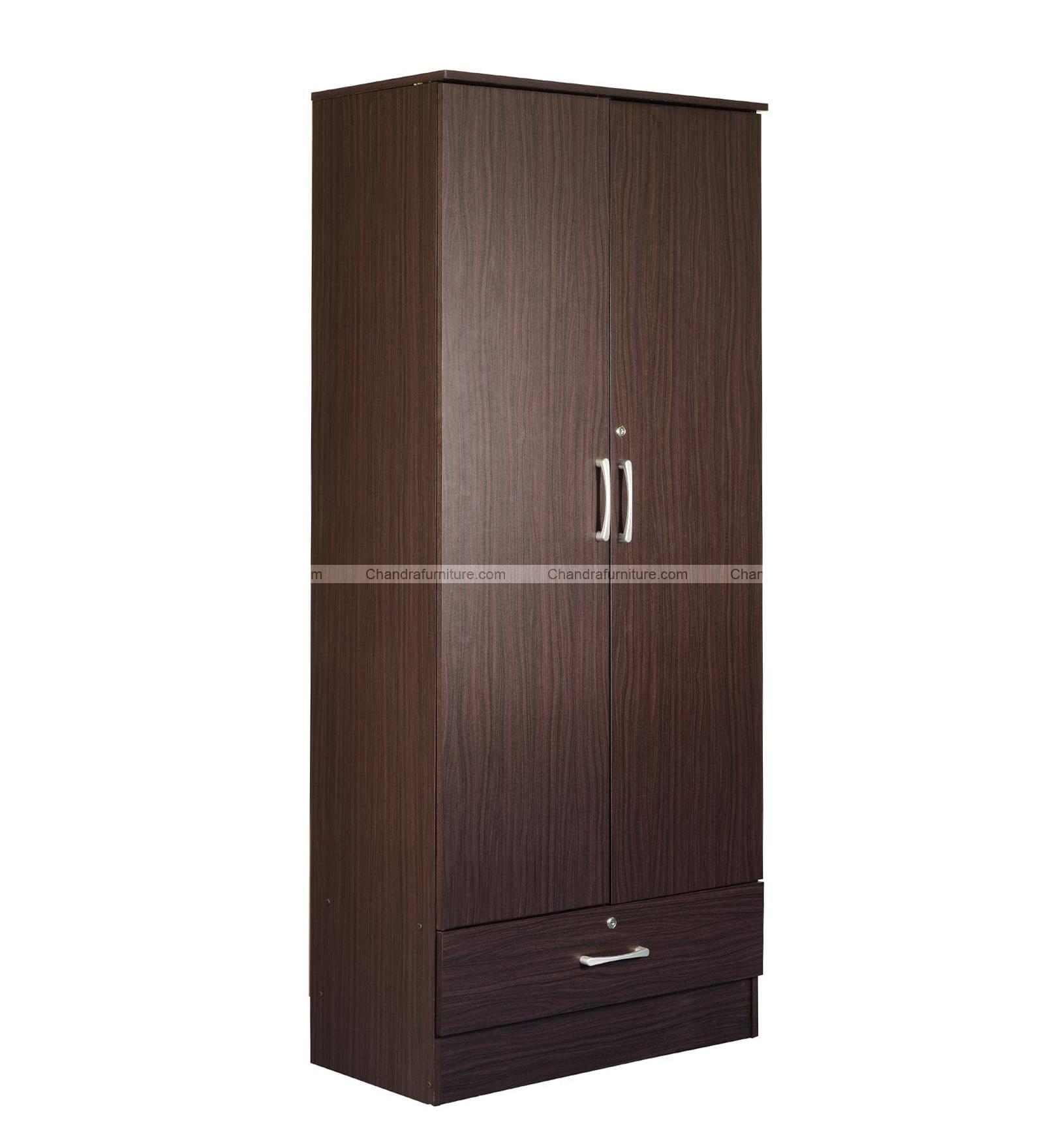 Chandra Furniture Cozy Two Door Wardrobe  Wood Colour