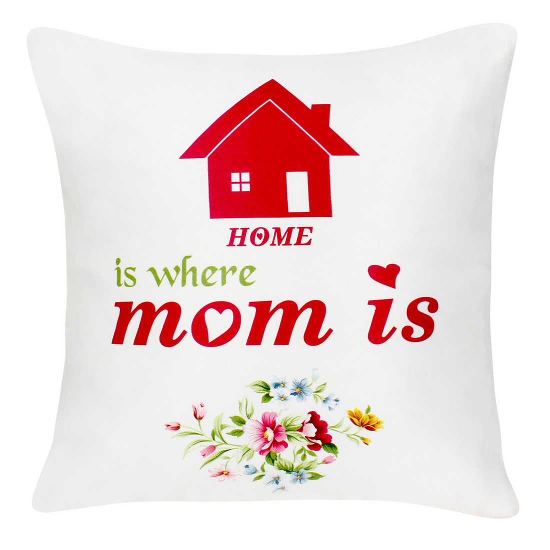 Sattva Premium Digital Printed Cushion Cover For Mother Day CU033 With Filler Multicolor - Size 12x12