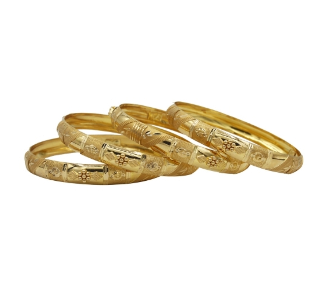 CAROL TREILLS GOLD BANGLE 18K HM750