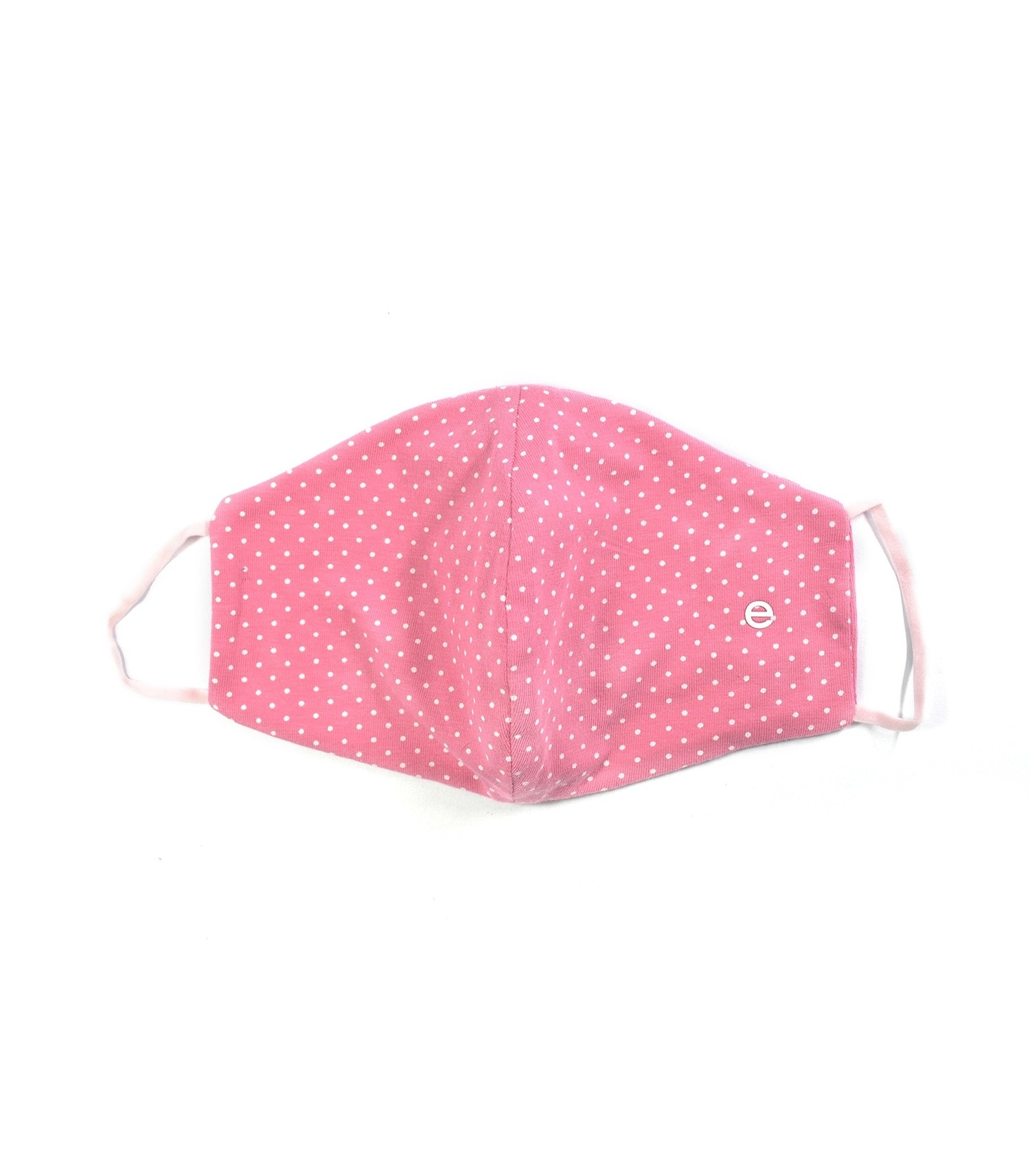 Enamor W001 SMART MASK : 3 Layer Cotton Jersey Outdoor Mask   >95% Protection (S,Pink -White Polka Dots)