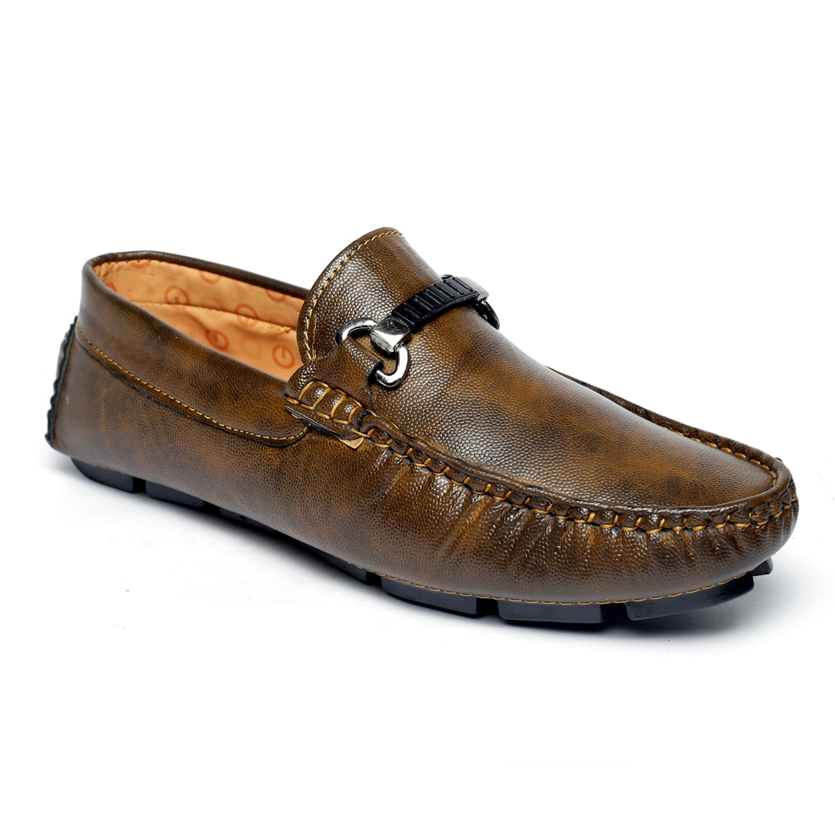 JK PORT COMFORTABLE, FASHIONABLE AND TRENDY LOAFERS JKPLF052BLK (BROWN,6-10,8 PAIR)