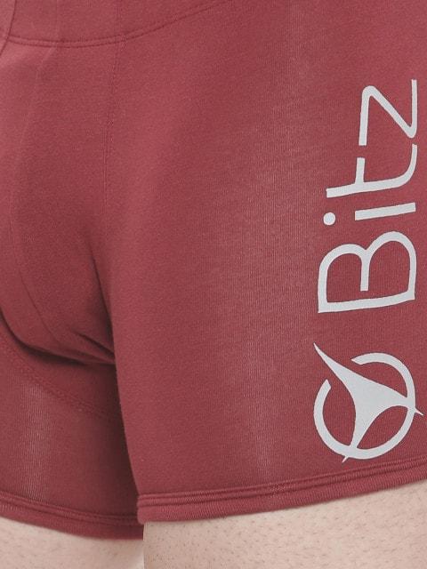 BITZ Men's Red Trunk (L,Red)