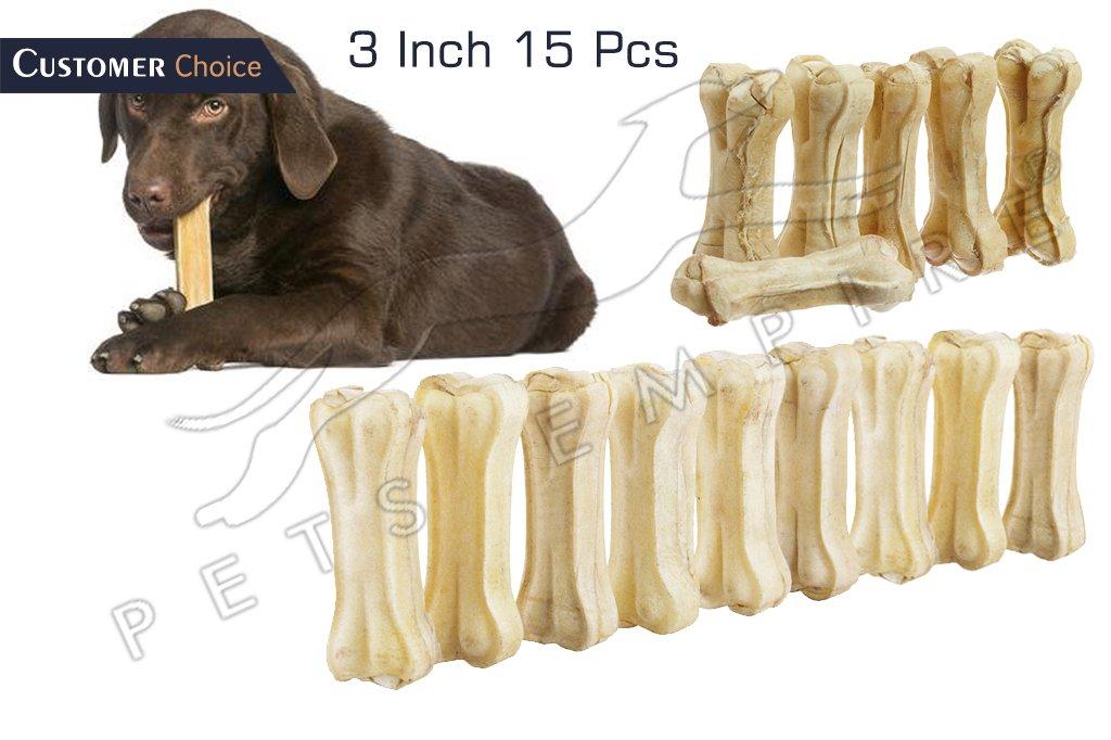 Pets Empire Pressed Dog Bone, (Small 3-Inch) 3 Inch Bone X 15 Pcs.