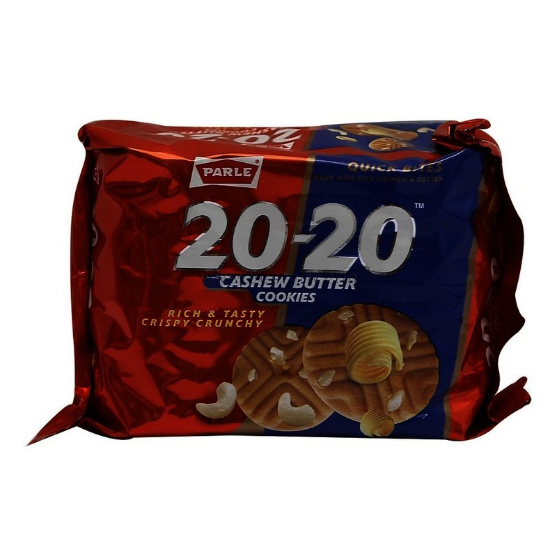 Parle 20-20 Biscuits Cashew Cookies, 90 Gm