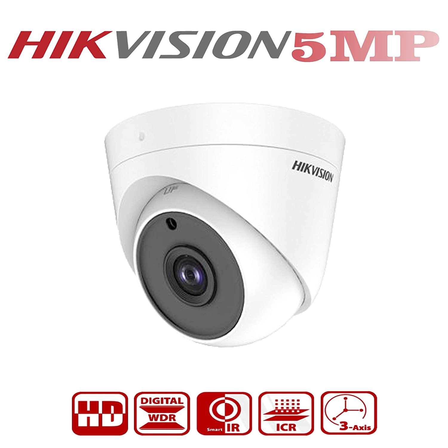 HIKVISION 5MP Ultra HD Indoor Dome Camera DS-2CE5AHOT-ITPF Night Vision (White). Brand: HIKVISION