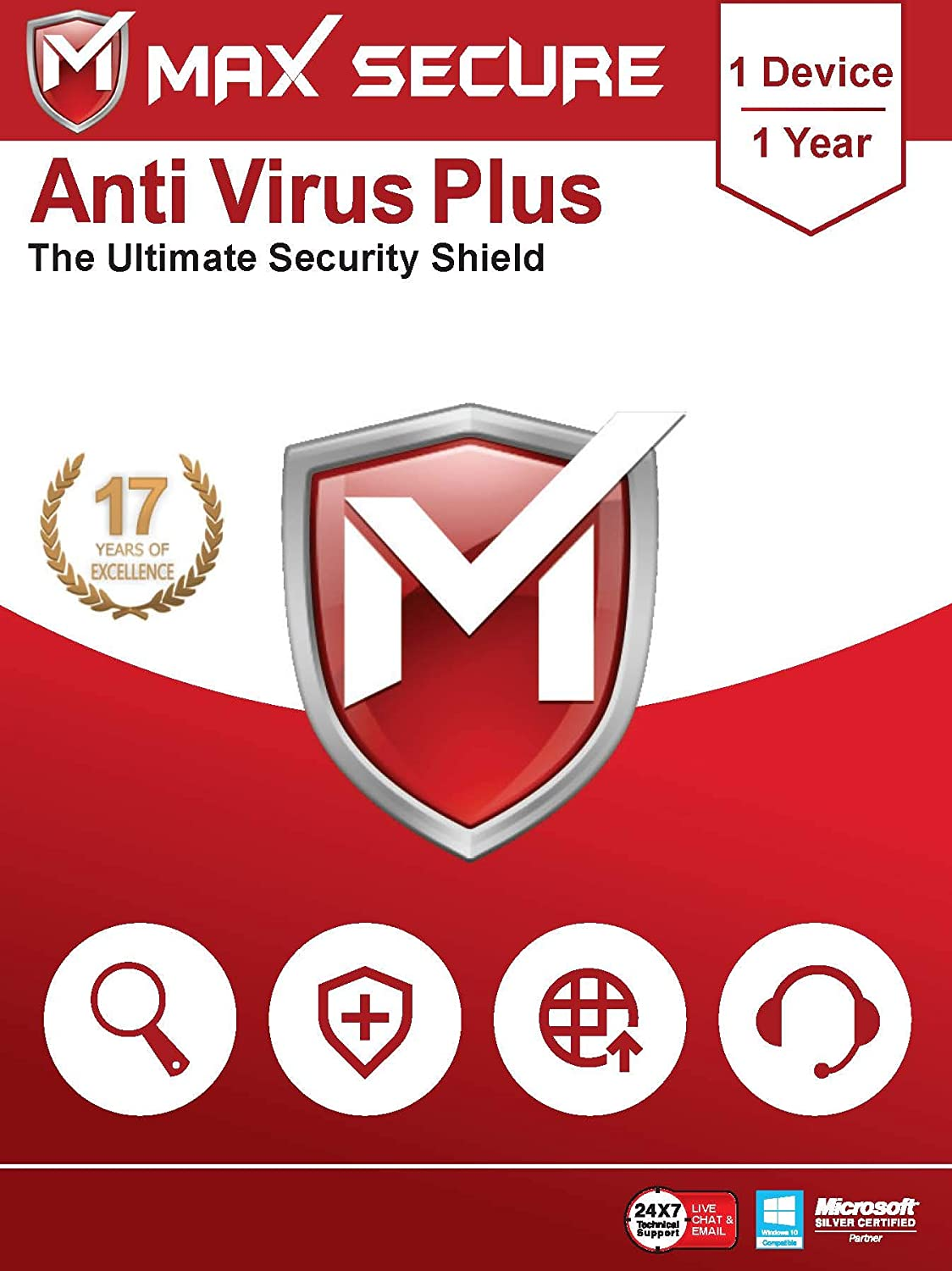 Max Secure Anti-Virus Plus | 1 PC 1 YEAR | Windows | Code Emailed In 2 Hrs
