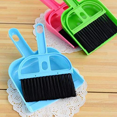 Mini Dustpan Supdi With Brush Broom Set For Multipurpose Cleaning Laptops, Keyboards, Dining Table, Car Seats, Carpets (Multicolor, Small)