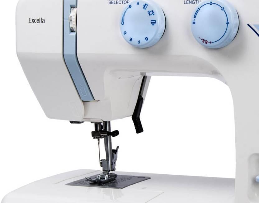 Usha Janome Excella Automatic Electronic Sewing Machine (White)