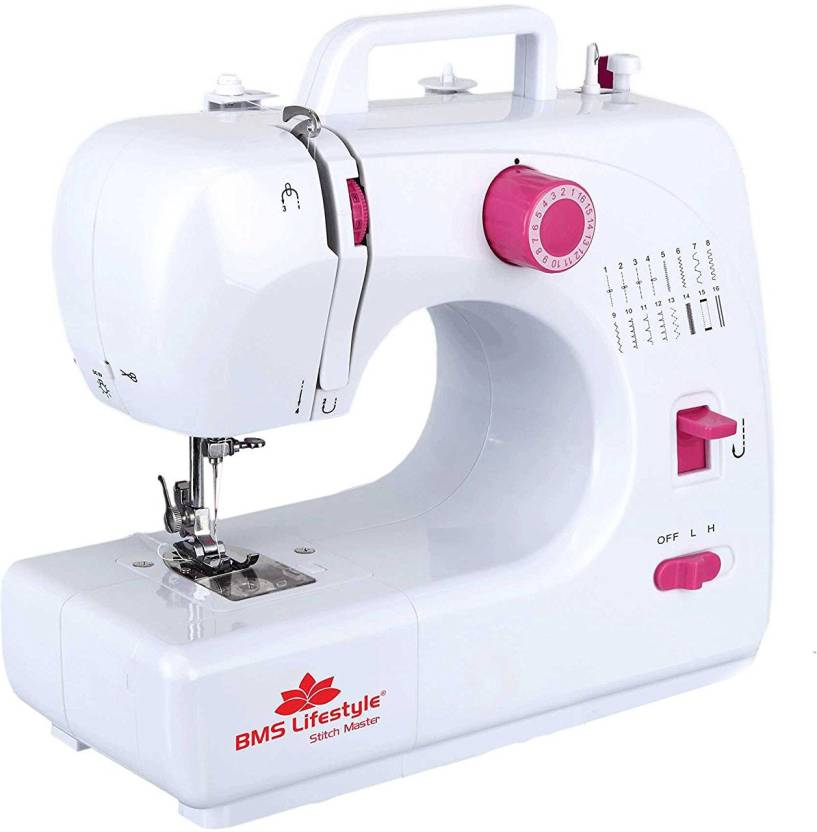 BMS Lifestyle StitchMaster-16built Electronic Sewing Machine (White)