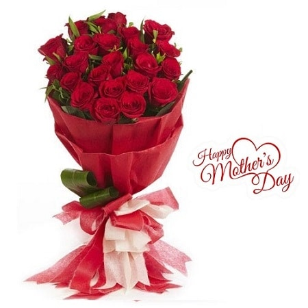 Mothers Day Gift Of Fresh Flower Bouquet (Bunch Of 20 Red Roses) - FFBUMD108 (Morning (09AM,12PM))