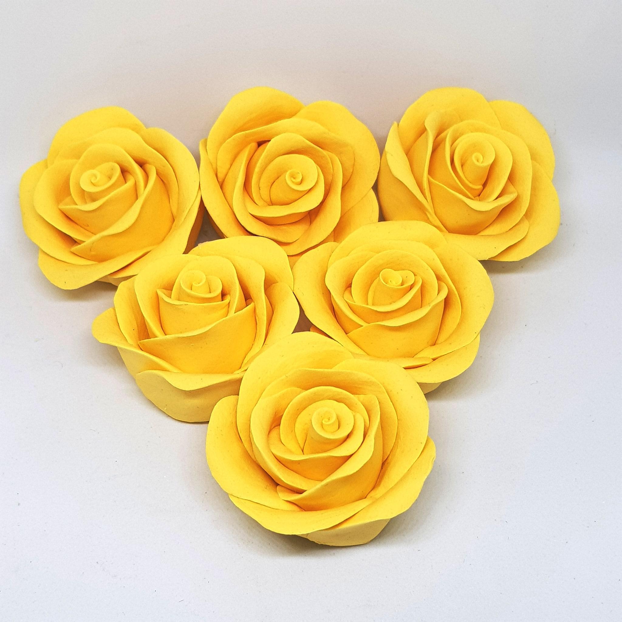 Handmade Rose Colour Sugarcraft (Yellow)