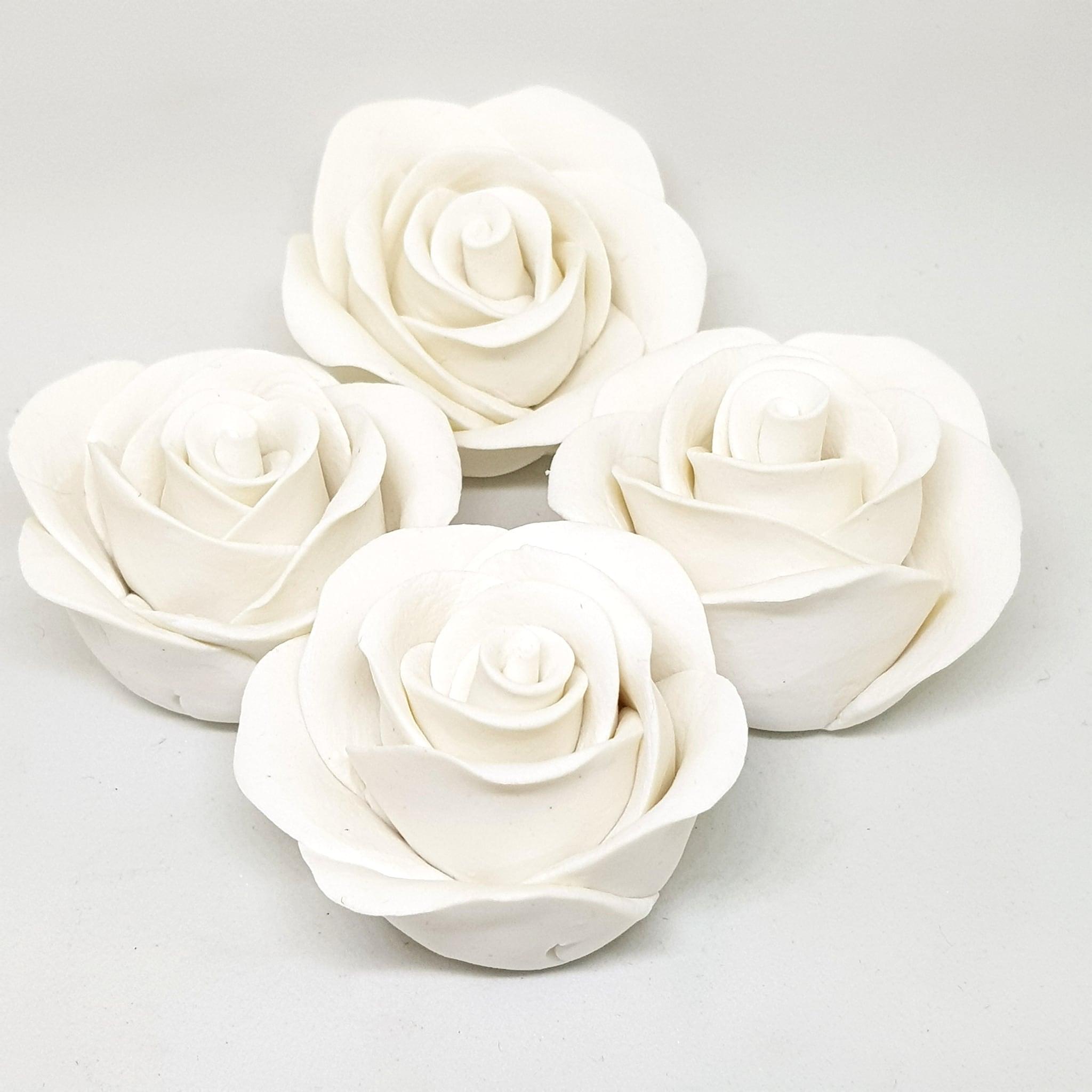 Handmade Rose Colour Sugarcraft (White)