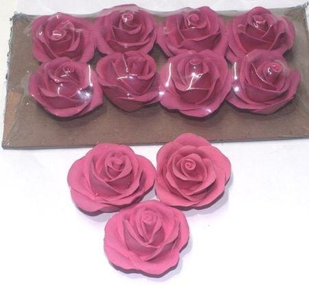 Handmade Rose Colour Sugarcraft (Pink)
