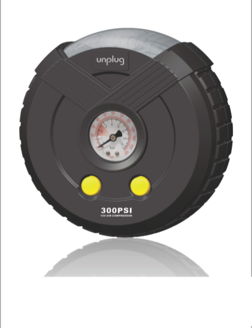 UNPLUG TIF00A25B COMPACT TYRE INFLATOR WHEELY