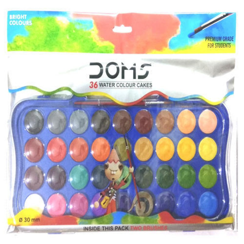 DOMS Water Colour Cakes 36 Shades (30 Mm)