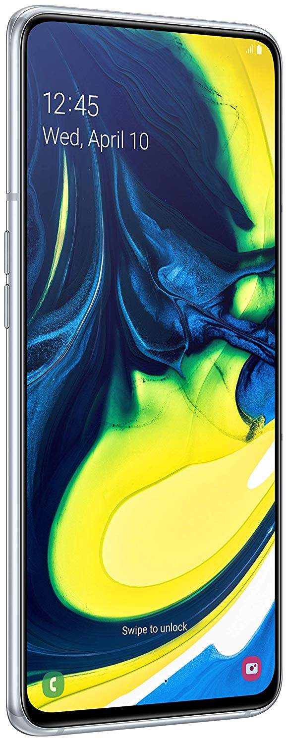 Samsung Galaxy A80 (RAM 8 GB, 128 GB, Ghost White)