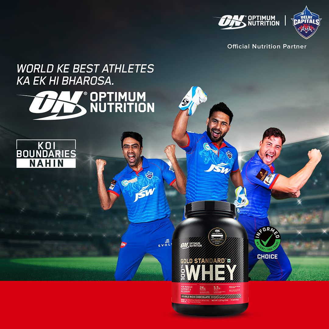 Optimum Nutrition (ON) Gold Standard 100% Whey Protein Powder - 5 Lbs,(Double Rich Chocolate), Limited Edition