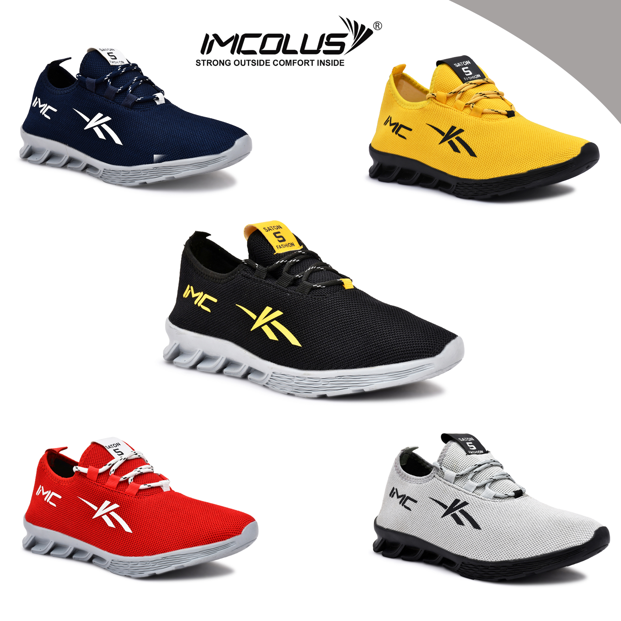IMC683A.1000_GRY FANCY & COMFORTABLE FLEXIBLE SPORT SHOE FOR MEN IMC683A.1000_GRY (GREY, 7TO10, 4 PAIRS)