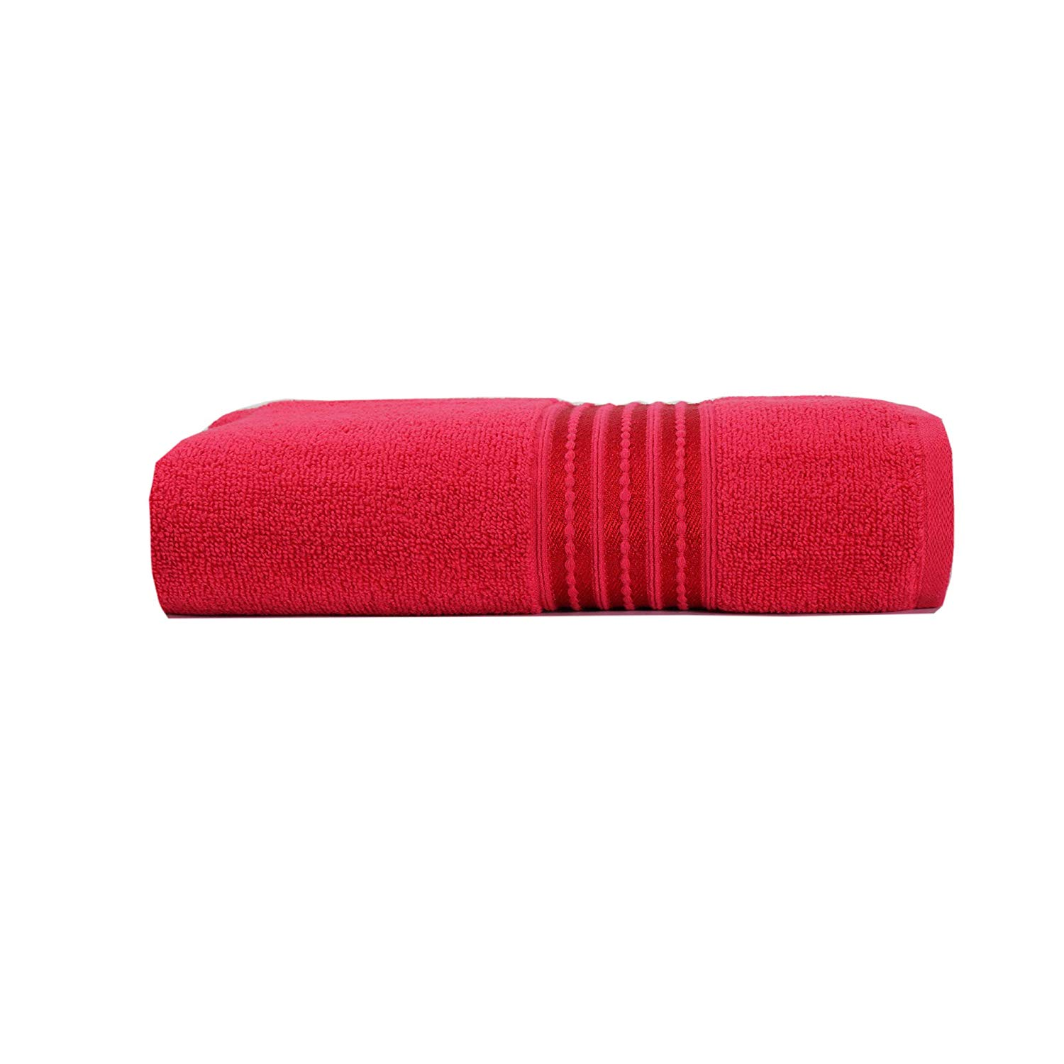 Micro Cotton Remy Basel 100% Cotton Red Bath Towel (Red)