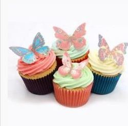 Bakersville Food Decor Edible Wafer Decoration Butterfly Cake And Cupcake Toppers Cake Decoration - Divena In
