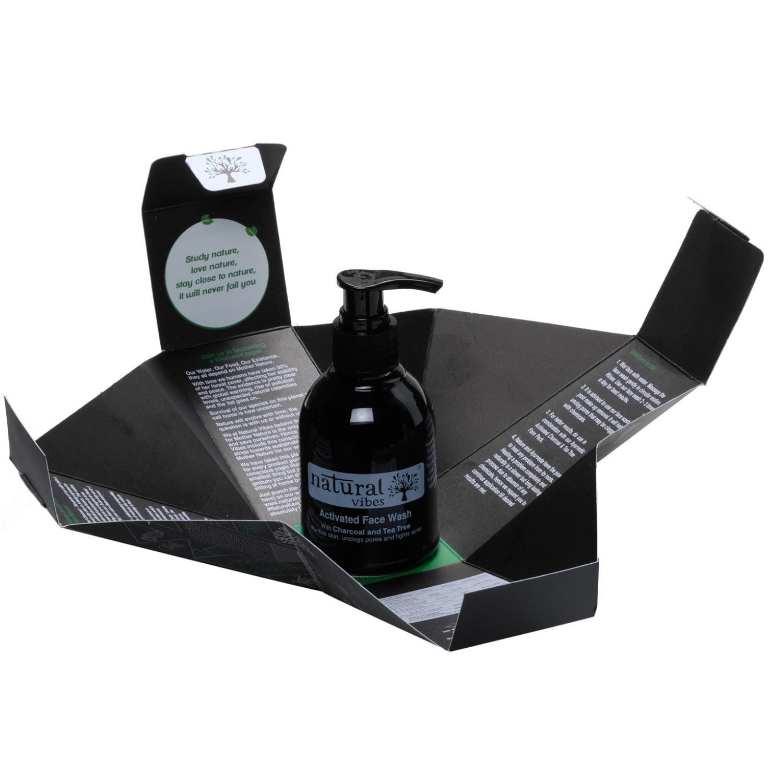 Natural Vibes Ayurvedic Activated Charcoal & Tea Tree Face Wash (150 ml)