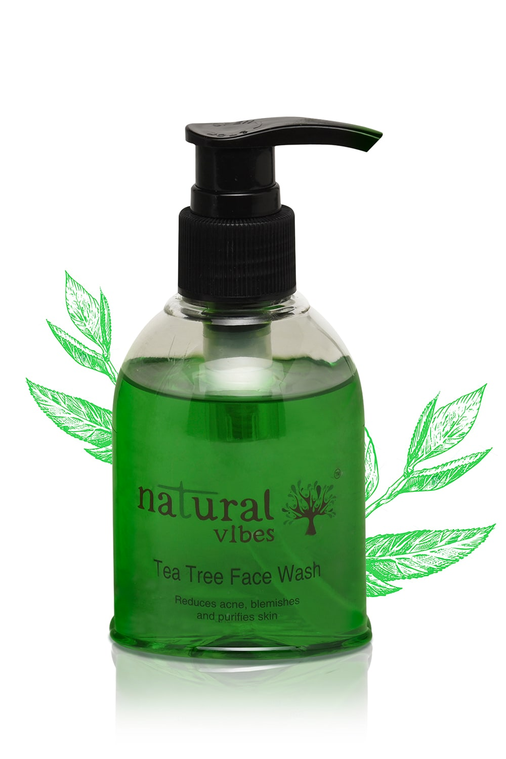 Natural Vibes Ayurvedic Tea Tree Face Wash (150 ml)