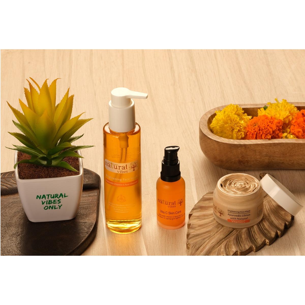 Natural Vibes Ayurvedic Vitamin C Brightening Face Wash (120 ml)