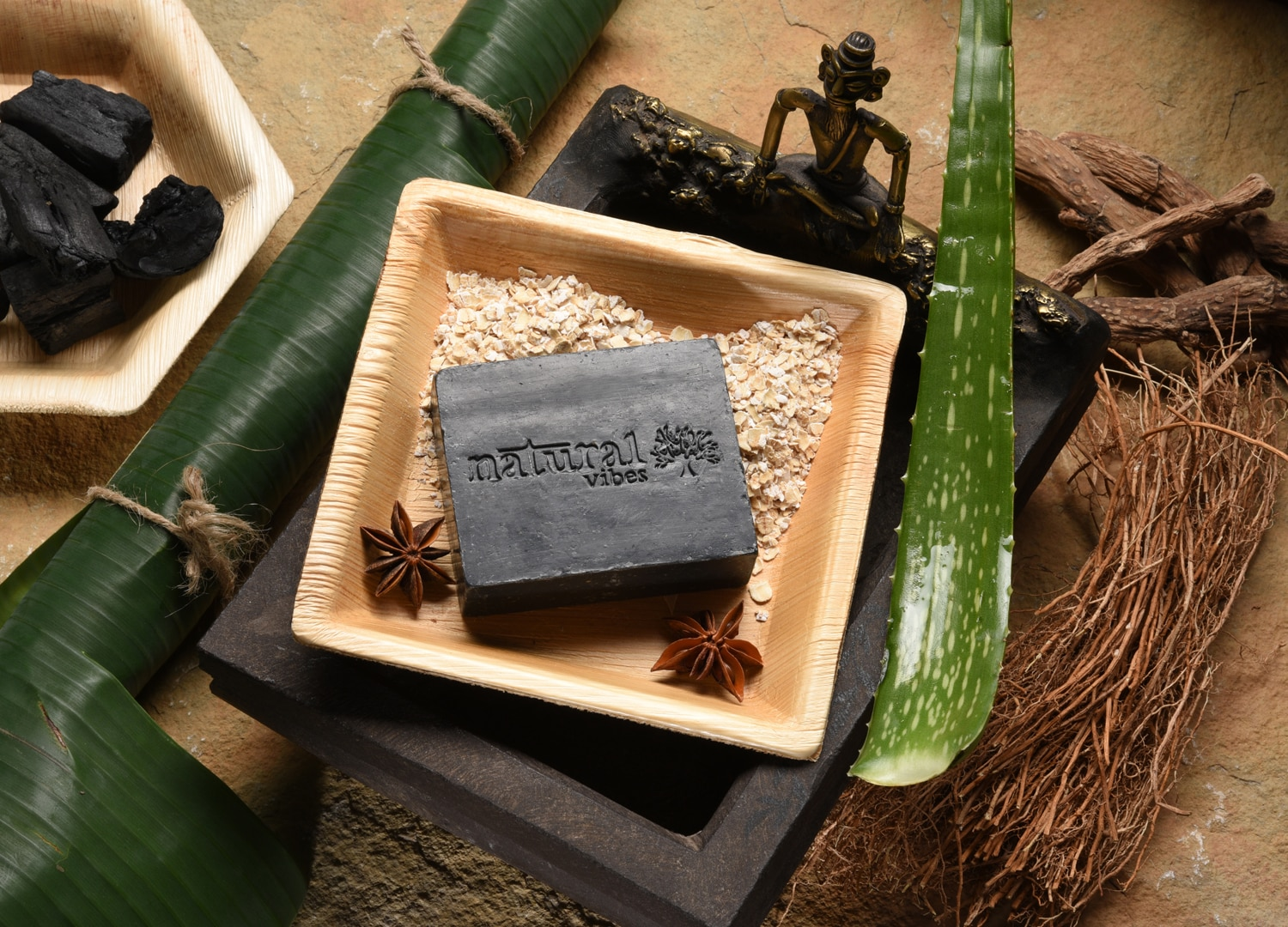 Natural Vibes Tea Tree And Activated Charcoal Soap (150 gms)
