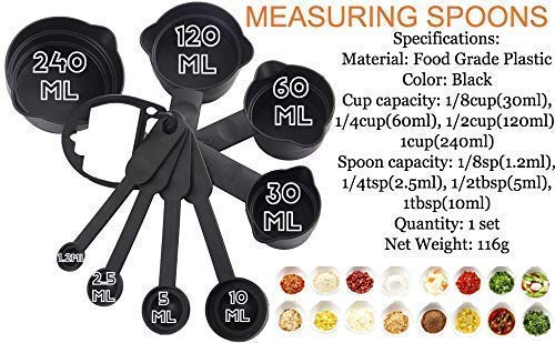 Cake Decorating Kits With Cake Turntable, 12 Numbered Cake Decorating Tips,Measuring Cups & Spoon Set 8,1 Icing Spatula, 3 Icing Smoother, 1 Silicone