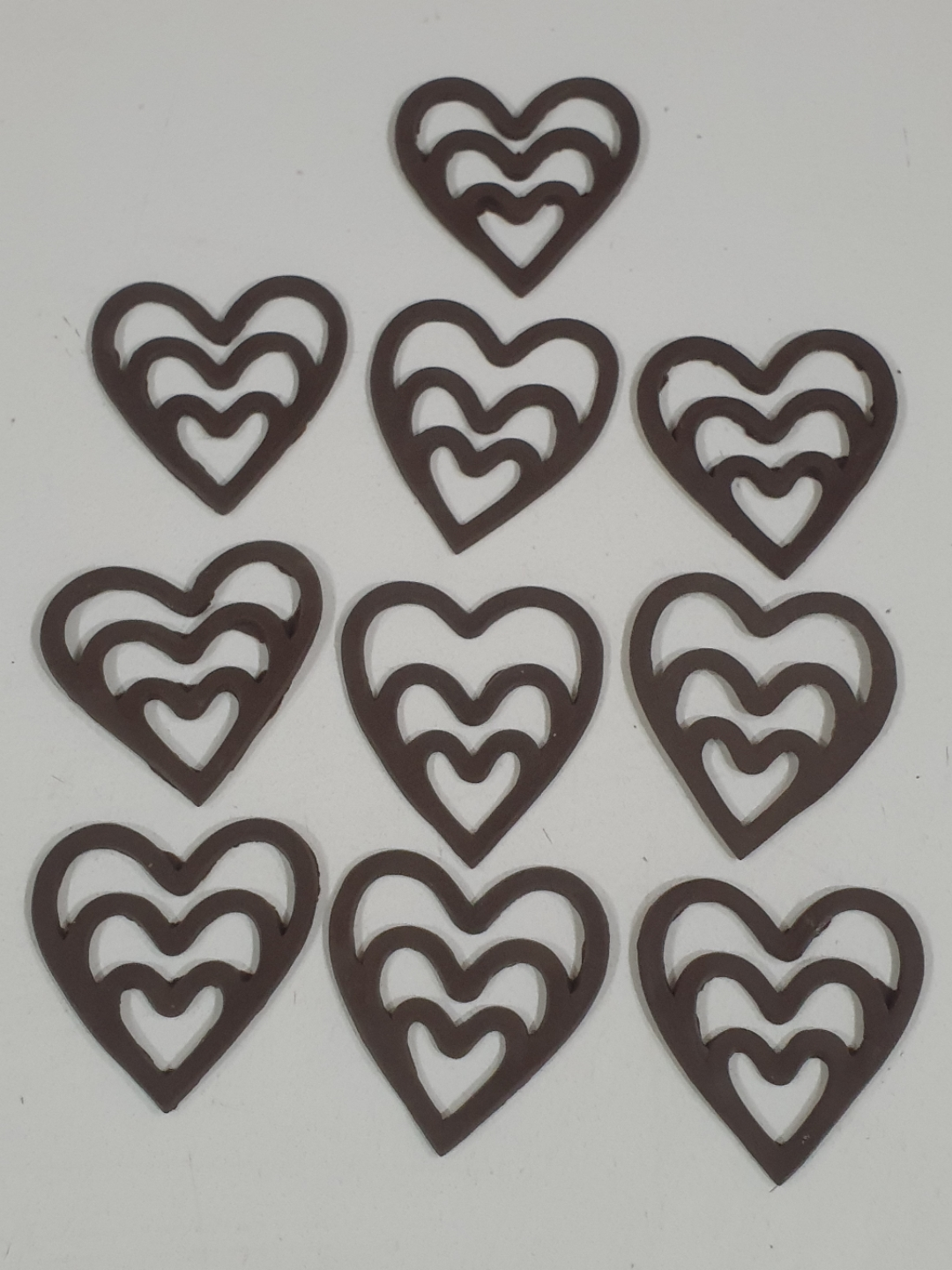 3 Layers Heart Chocolate Decorations
