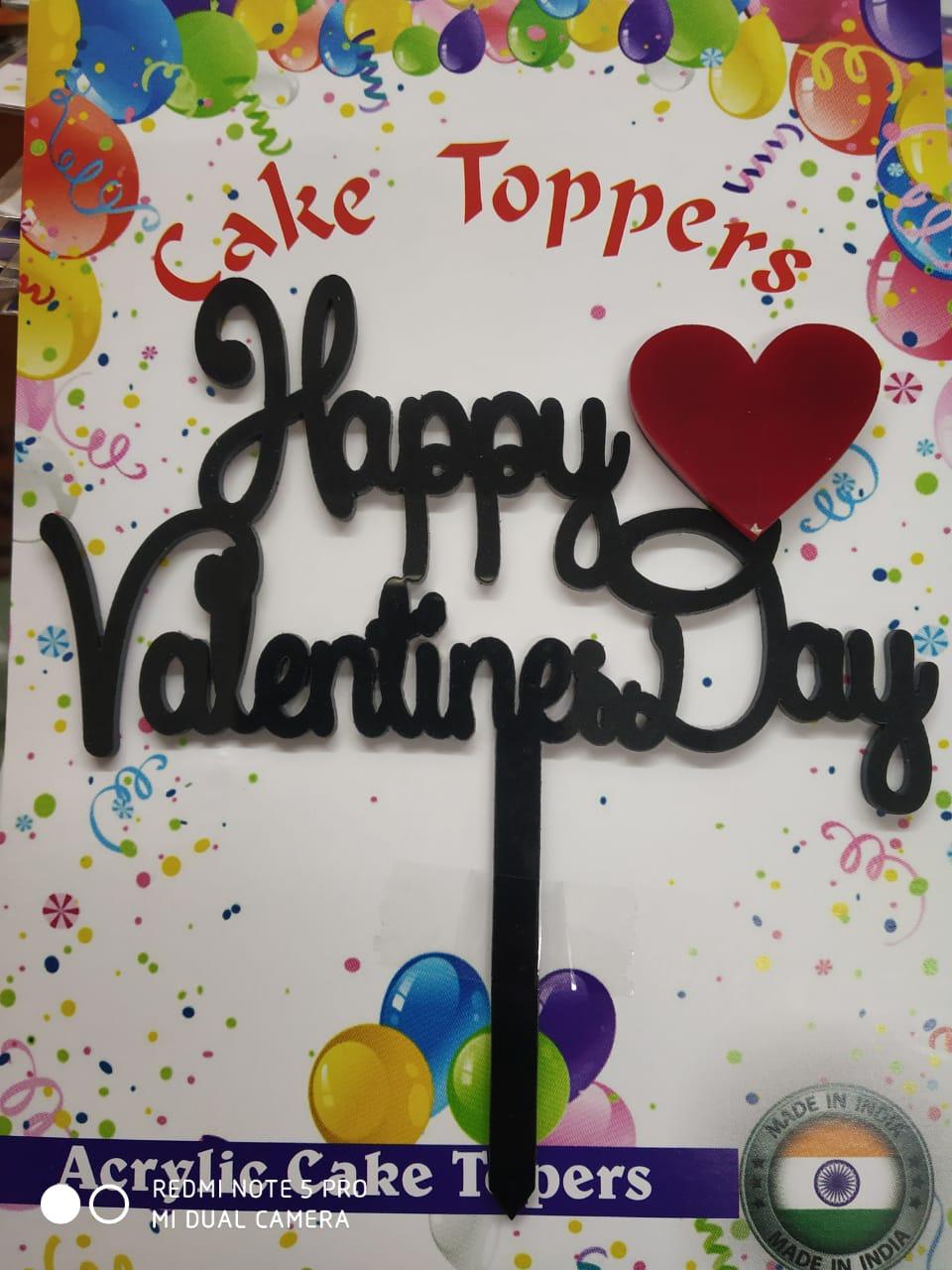 Valentine Acrylic Cake Topper Any One Design Cake Decoration - Divena In