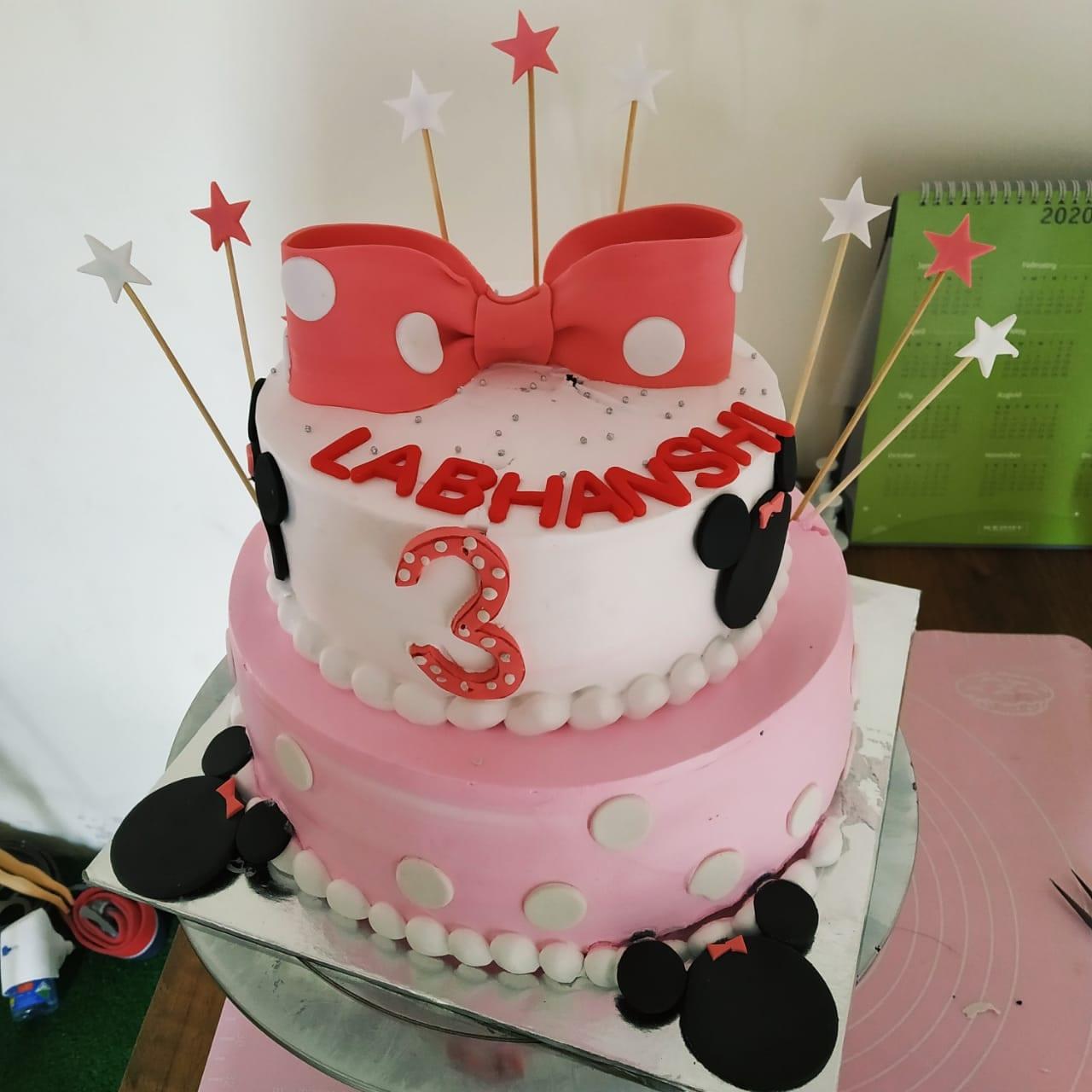 Minnie Cake (2.5 Kg,Chocolate)
