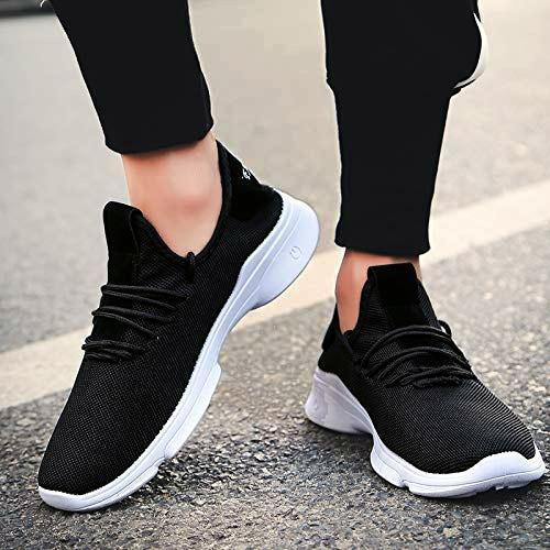 Raysfield Men's Black Sports  Running Styles Shoes Black_896 (Black,6_10,8 PAIR)