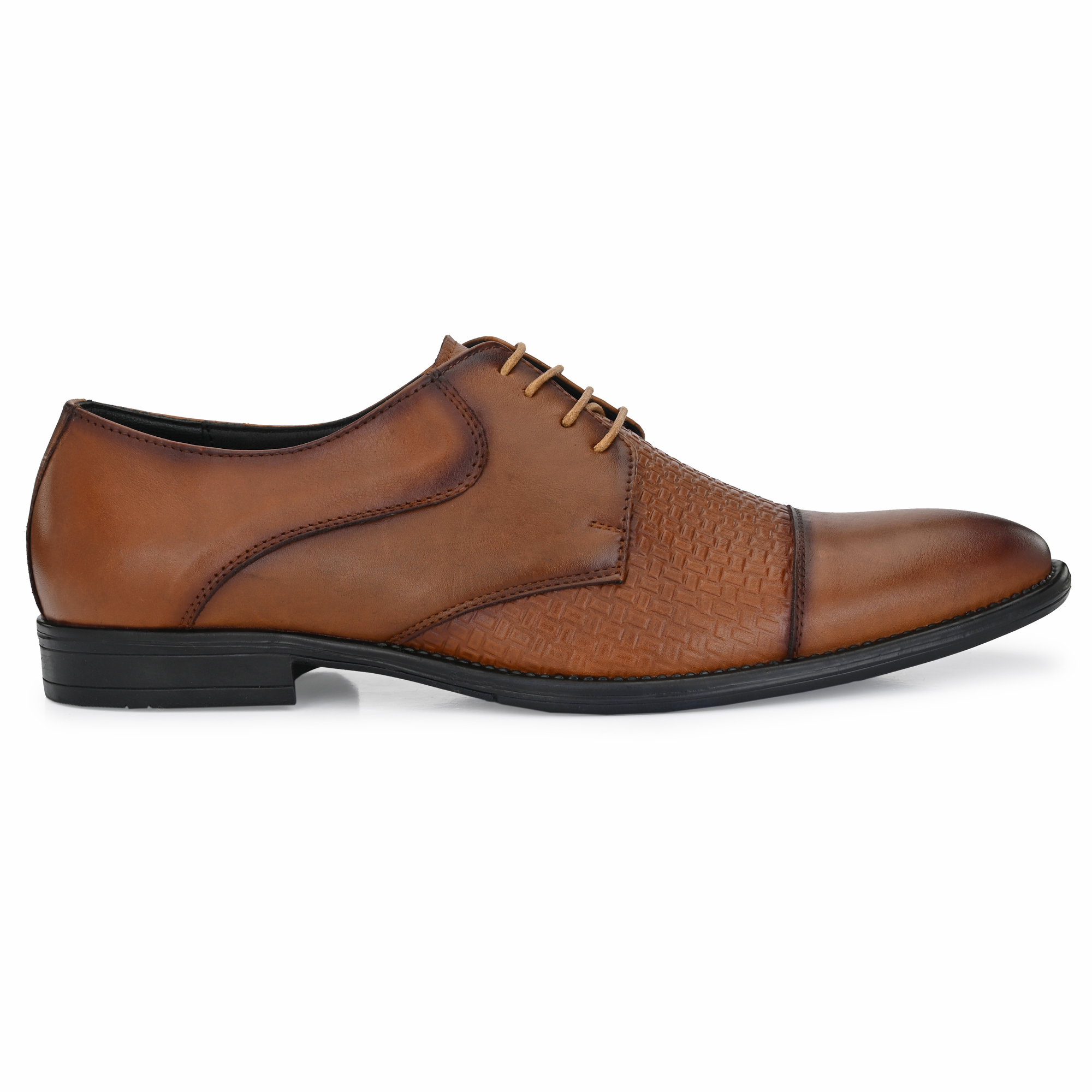 BRIFAR COMFORTABLE & TRENDY GENUINE LEATHERS FORMAL SHOES ARE RELIABLE FOR ANY MJ9TN (6-9, TAN, 4 PAIR)