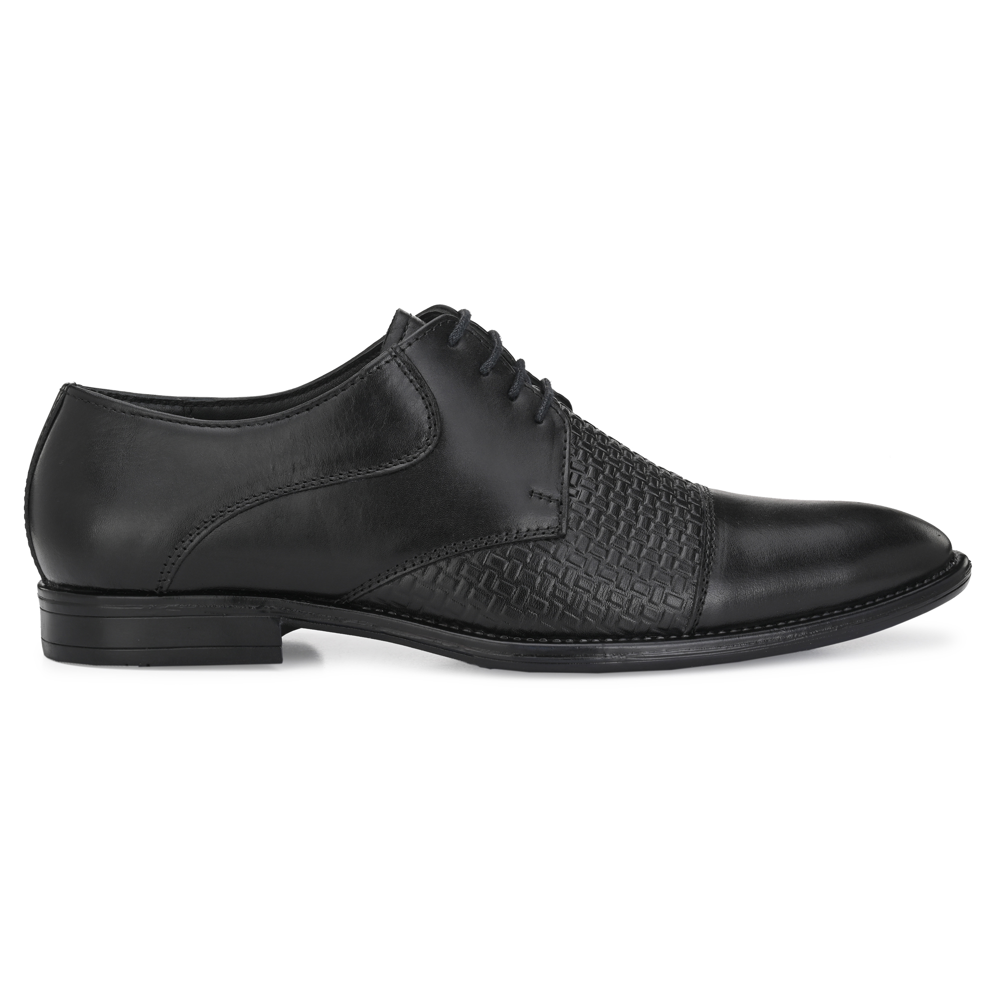 BRIFAR COMFORTABLE & TRENDY GENUINE LEATHERS FORMAL SHOES ARE RELIABLE FOR ANY MJ9BK1 (7-10, BLACK, 4 PAIR)