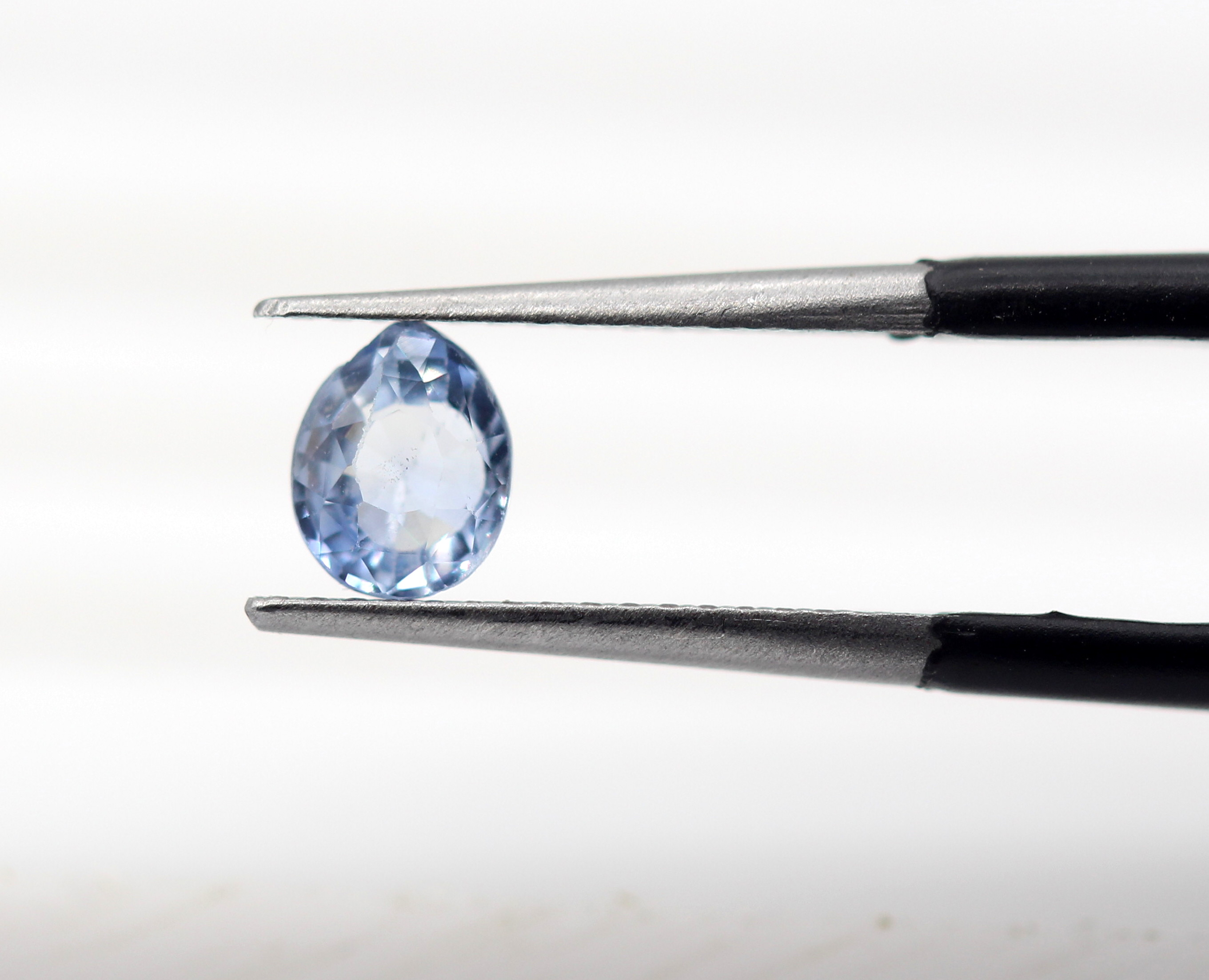 0.69 Ct Blue Sapphire Natural Gemstone Uneven Oval Cut Rich Blue Color Certified