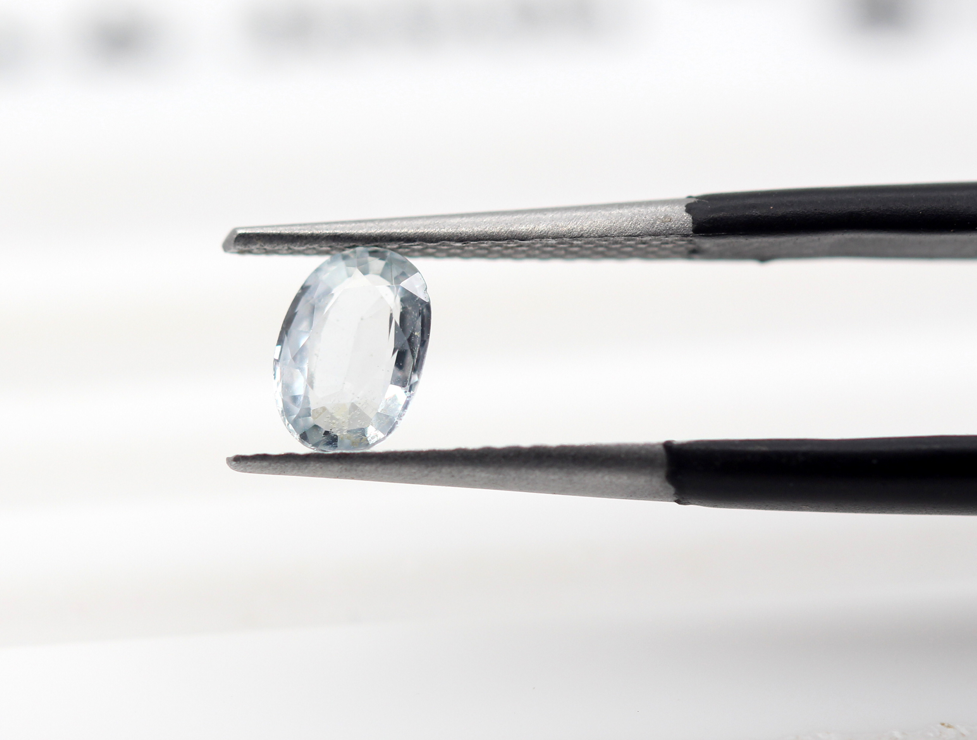 0.72 Ct White Sapphire Natural Gemstone Off White Transparent Color Ceylon Certified