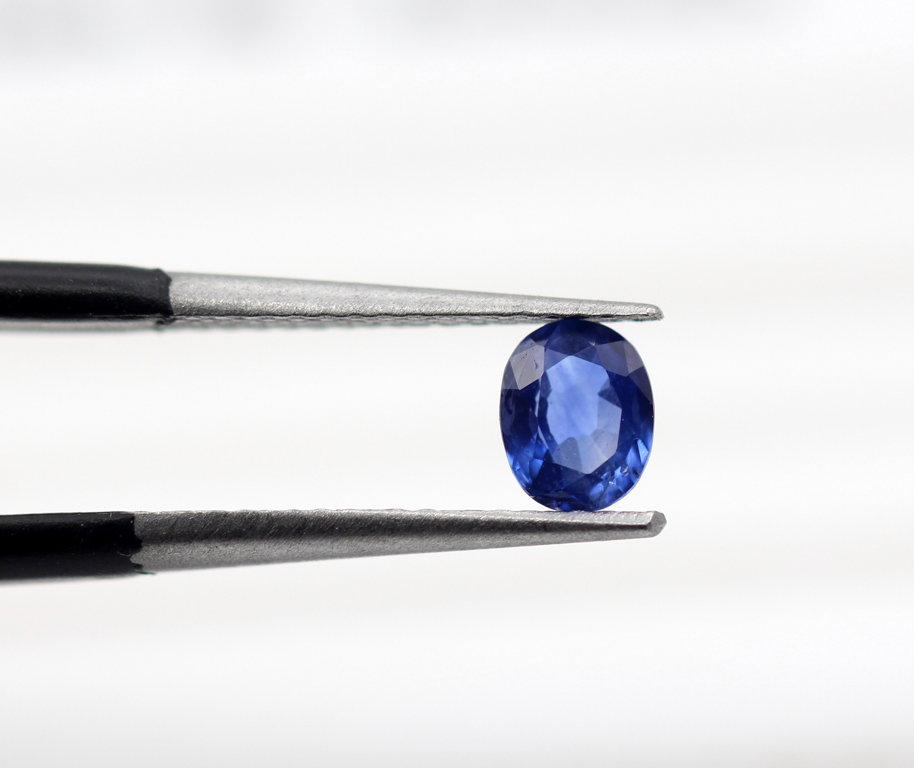 0.49 Ct Blue Sapphire Natural Gemstone Oval Shape Rich Blue Color Ceylon Certified