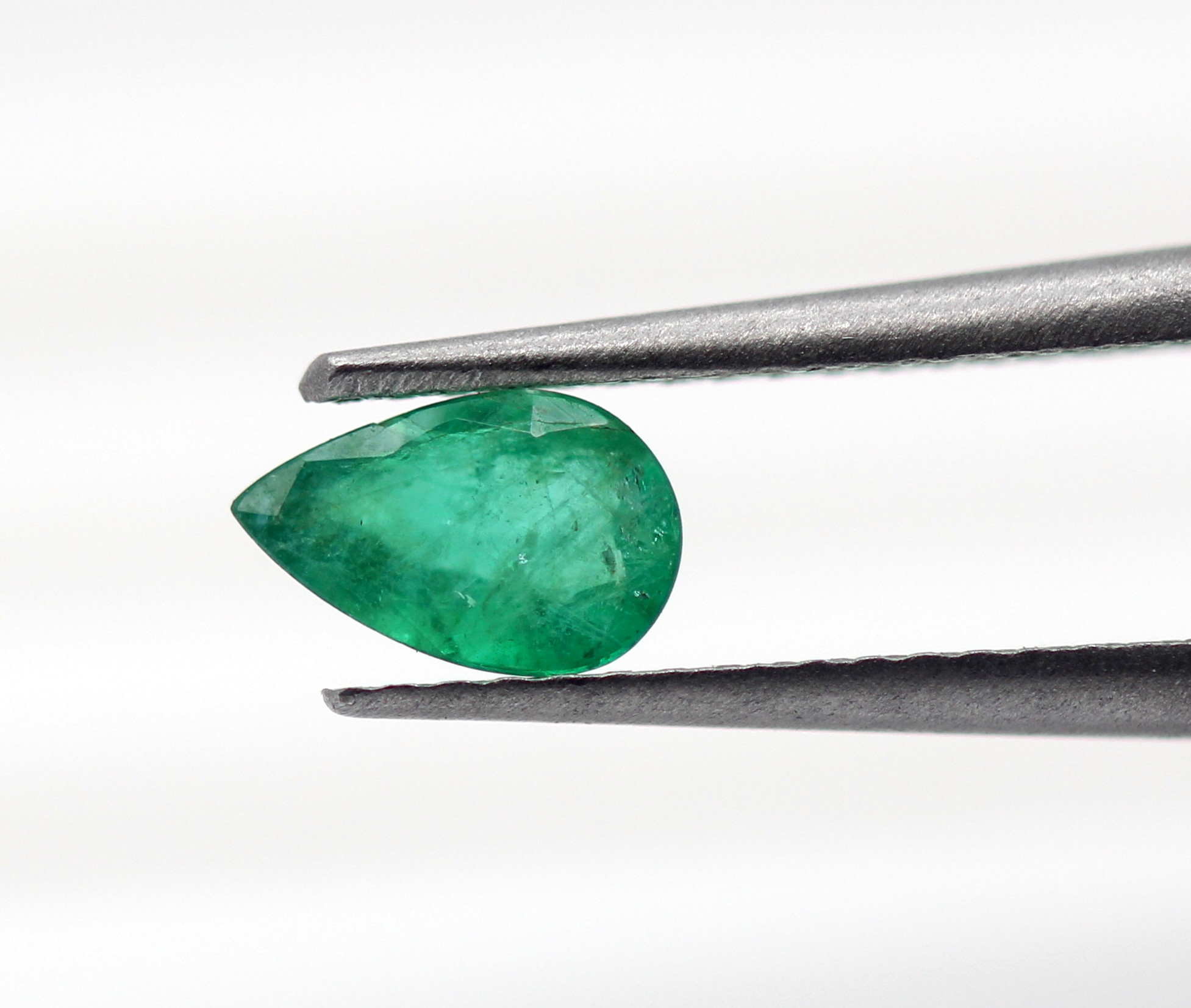 0.46 Ct Emerald Natural Gemstone Pear Shape Good Green Color Zambia Certified