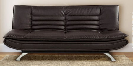 Miraculous Furny Edo Leatherette Sofa Cum Bed In Dark Brown Colour Caraccident5 Cool Chair Designs And Ideas Caraccident5Info