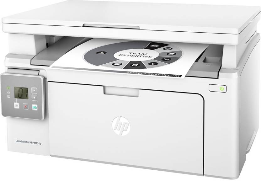 HP G3Q66A LaserJet Ultra MFP M134a Multi-Function Color Laser Printer (White)