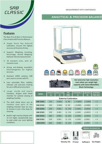 SUN-223CL DIGITAL ANALYTICAL BALANCE - 200G X 0.001G EXTERNAL CALIBRATION
