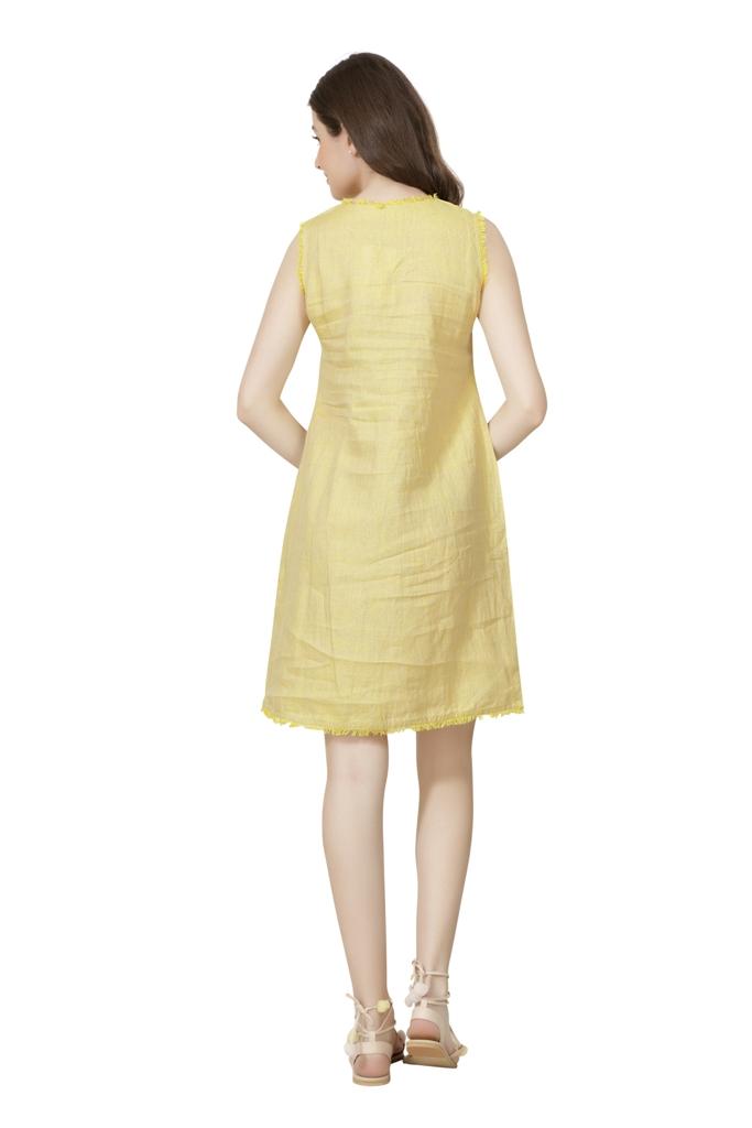 E237 The Citrus Shift Dress XS - Yellow (M,Yellow)