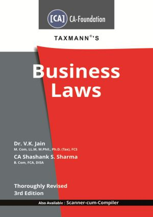 Taxmann CA-Foundation Business Laws By V K Jain Shashank S. Sharma Applicable For May 2020 Exam